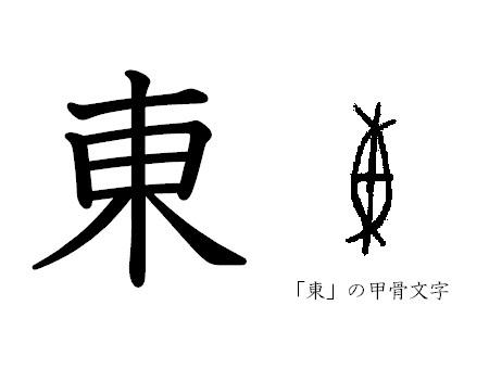 漢字コラム2「東」―日は木の間か...
